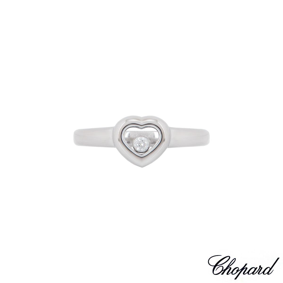 Chopard White Gold Heart Happy Diamonds Ring 82/4854